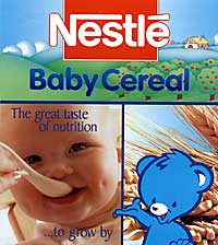 Nestl� Baby Cereal sample